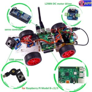 Raspberry Pi3でラジコンカーを作成(その1:材料一覧):SunFounder Model Car kit Video Camera for Raspberry Pi 3/2/B+/B RC Servo Motor Remote Control Robotics(自律運転プロトタイプを自作2-1)