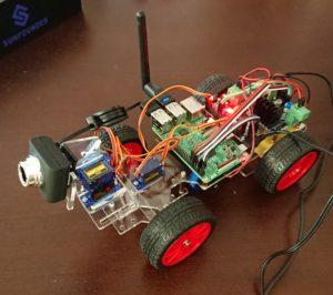 Raspberry Pi3でラジコンカーを作成(その4:前輪設置)(自律運転プロトタイプを自作2-4)
