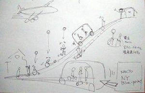 2025年頃の移動シーンを想像してみました(イラスト:山梨祐嗣さん)