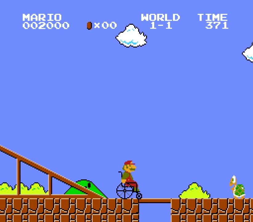 24.ここでノコノコ登場!手前にある谷にも橋がかけられているので安心して渡れる