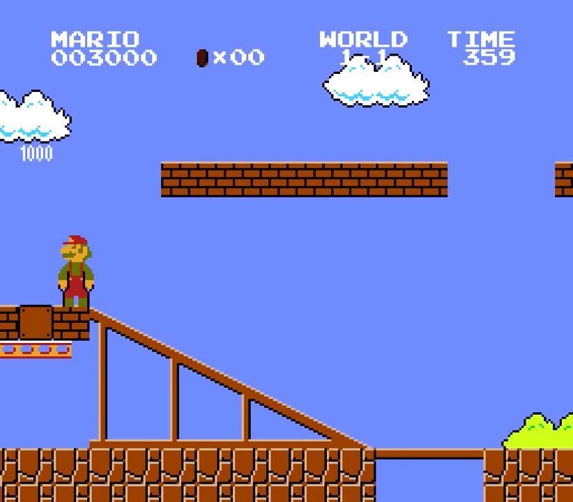 28.フラワーをゲットしたらファイアーマリオに変身!・・・・・・ではなく、松葉杖マリオに変身(笑)そしてなぜかBGMはスター♪